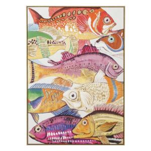 KARE DESIGN Obraz s ručními tahy Fish Meeting One 100 × 70 cm, Vemzu