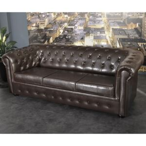 Chesterfield Bis Pohovka 3M antique brown