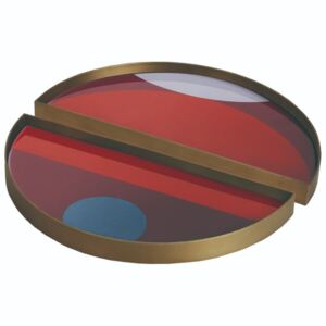 Ethnicraft designové podnosy Half Moon Glass Tray