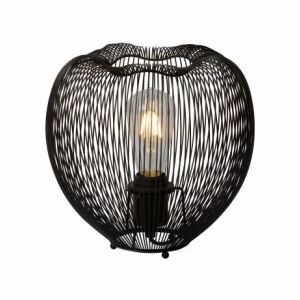 LUCIDE WIRIO Table Lamp E27 H24 D25cm Black, stolní lampa