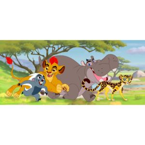 AG Design 1 dílná fototapeta LION GUARD FTDNH 5368, 202 x 90 cm vlies