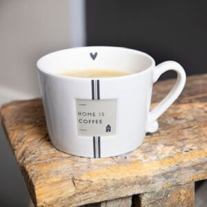 Bastion Collections Keramický hrnek White/Home is Coffee 300 ml