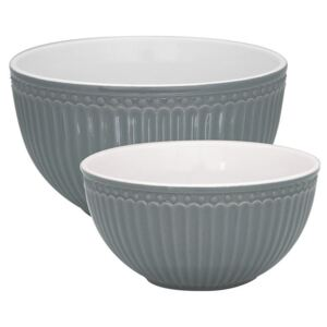 Porcelánová mísa Alice Stone Grey - set 2 ks