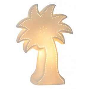 LUCIDE PALM Table Lamp E14/25W H26,3cm White, stolní lampa