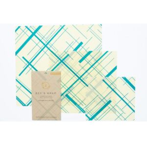 Bee's Wrap, USA,Bee's Wrap Assorted Teal 3-pack