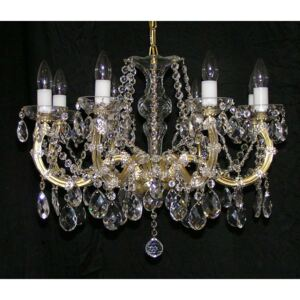 8 flames Maria Theresa crystal chandelier with cut almonds