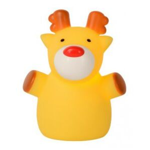 LUCIDE COLOR ZOO Elk Night Light H10cm Yellow, stolní dětská lampa