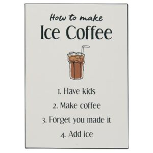 Ib Laursen Plechová cedule How to make ice coffee