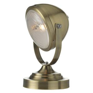ACA DECOR Stolní retro lampa Headlight Brass