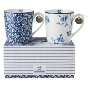 Porcelánové hrnky sada Alyssum Rose 350ml 2-set box, Laura Ashley, UK