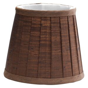 Clip Shade Pleated Chocolate Candle Shade