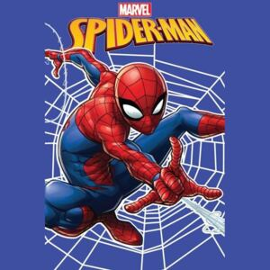 JERRY FABRICS Fleece deka Spiderman web Polyester, 100/150 cm