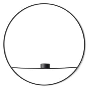 MENU Svícen POV Circle Tealight Black - L