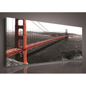 Obraz na plátně Golden Gate Bridge 103O3, 45 x 145 cm, IMPOL TRADE