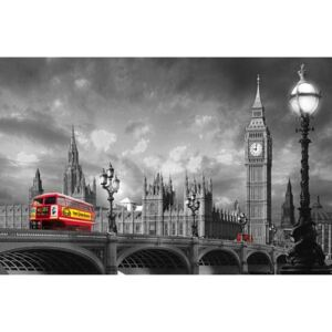 Fototapeta Bus on Westminster Bridge, rozměr 175 cm x 115 cm, fototapety W+G 697