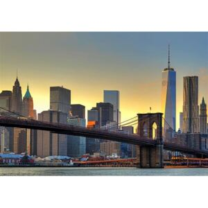 Fototapeta Brooklyn Bridge At Sunset, rozměr 366 cm x 254 cm, fototapety Brooklyn Bridge 00148, W+G