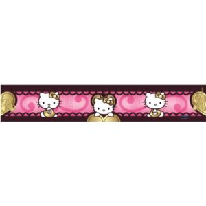 Samolepící bordura Hello Kitty love 901 5 m x 10,6 cm IMPOL TRADE