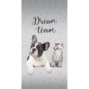 DETEXPOL Osuška Sweet Animals Dream Team Bavlna - Froté, 70/140 cm