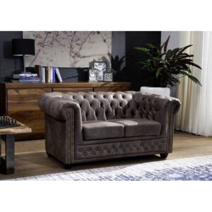Chesterfield Oxford: Pohovka 2M Dark Brown