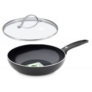Greenpan Wok pánev s poklicí CAMBRIDGE BLACK 28 cm