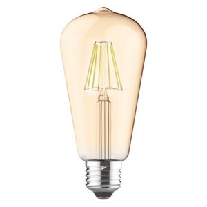 ACA DECOR LED žárovka filament STEP Edison E27 8W