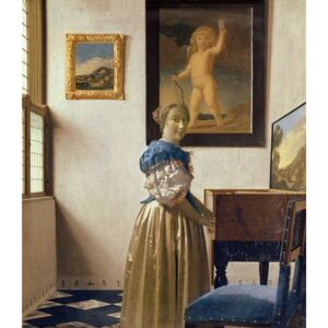 Obraz, Reprodukce - A Young Woman Standing at a Virginal, c.1670-72, Jan (1632-75) Vermeer