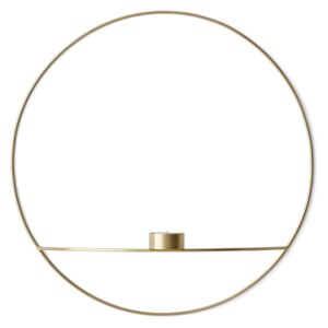 MENU Svícen POV Circle Tealight Brass - L