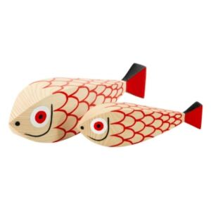 Wooden Doll Mother Fish and Child