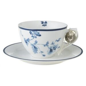 Šálek na cappuccino China Rose blue 260ml, Laura Ashley, UK