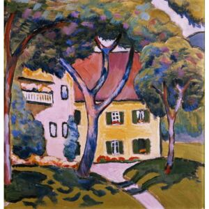 Obraz, Reprodukce - House in a Landscape, August Macke