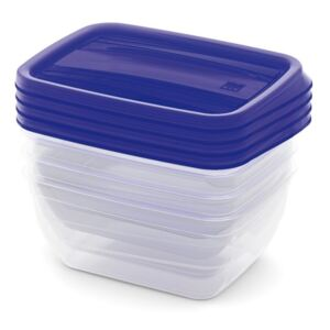 KIS Kis Set Food Box VEDO 4x0,75L modrý