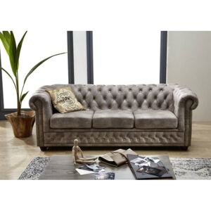 Askont R Pohovka 3M grey Chesterfield Oxford
