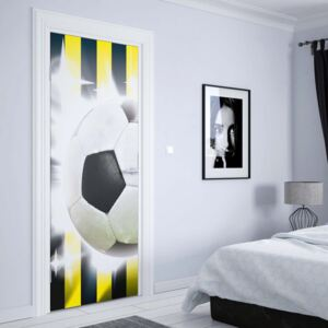 GLIX Fototapeta na dveře - Football Yellow And Black Stripes | 91x211 cm