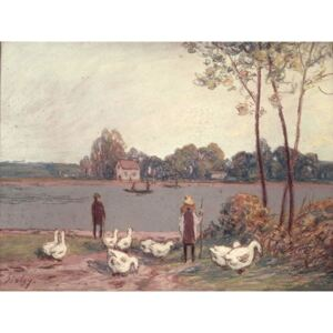 Obraz, Reprodukce - On the Banks of the Loing, Alfred Sisley