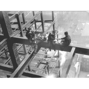 Obraz, Reprodukce - Workers eating lunch atop beam 1925, (80 x 60 cm)