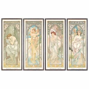 Mucha, Alphonse Marie - Obraz, Reprodukce - The Times of the Day; Les heures du jour (a set of four), 1899