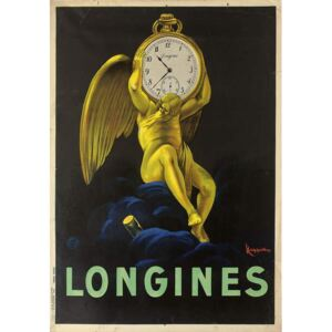 Cappiello, Leonetto - Obraz, Reprodukce - Advertising poster for the Swiss watchmakers Longines, 1922
