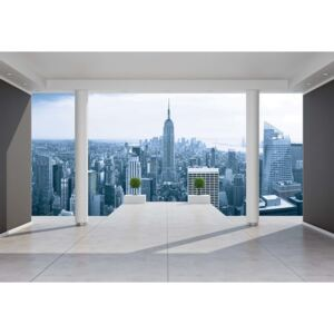 Fototapeta, Tapeta New York City Skyline 3D Penthouse View, (368 x 254 cm)