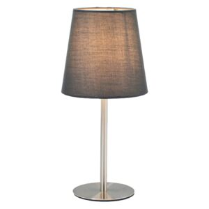 ACA DECOR Stolní lampa Ashley Nickel Grey
