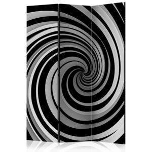 Paraván - Black and white swirl 135x172
