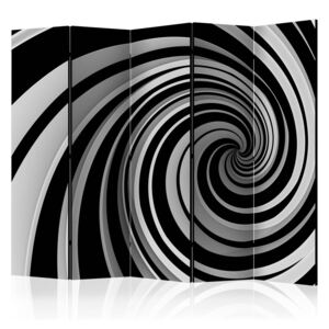 Paraván - Black and white swirl II 225x172