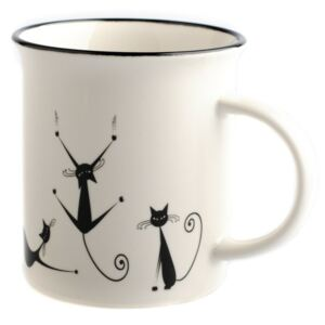 Porcelánový hrnek Dakls Cats Nero, 310 ml