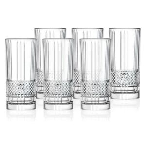 Lyngby Glas Sklenice Highball Brillante 37cl (sada 6 ks)