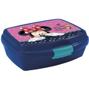 DERFORM Box na svačinu Minnie Mouse modrý