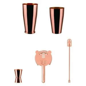 Lunar Eclipse Boston shaker set copper, Alessi
