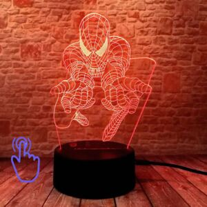 3D LED Lampička Spiderman MARVEL