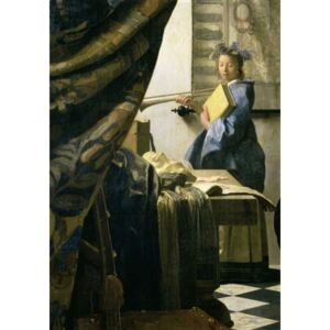 Obraz, Reprodukce - The Artist's Studio, c.1665-6 (oil on canvas), Jan (1632-75) Vermeer