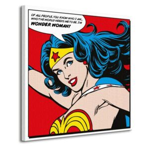 Obraz na plátně DC Comics Wonder Woman (Quote) 85x85cm WDC98056