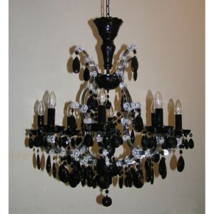 8 flames Maria Theresa crystal chandelier with Black almonds