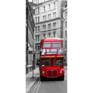 AG Design 1 dílná fototapeta LONDON BUS FTNV 2898, 90 x 202 cm vlies